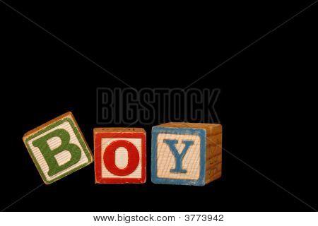 Boy Baby Blocks