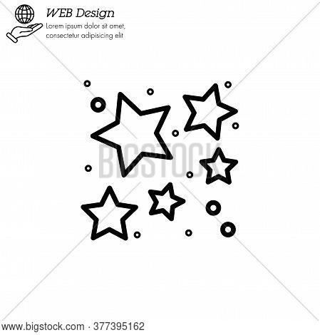 Star Cluster Icon Thin Line, Linear, Outline Vector. Star Cluster Simple Sign, Logo.