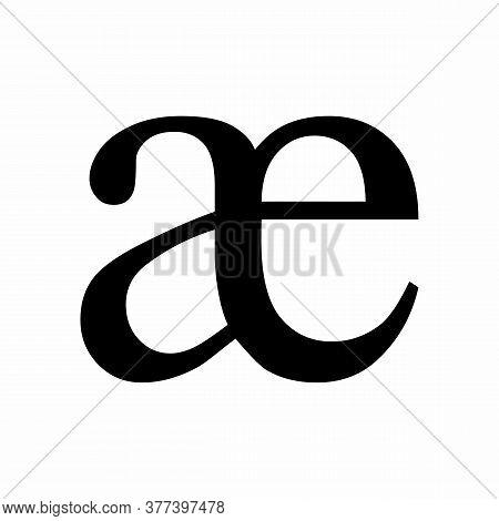 Ae Ligature Latin Small Letter Icon On White Background