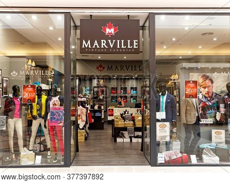 Rome, Italy - June 24, 2015. Marville Vintage Canadian Store In Rome, Italy. Marville Is Designed To