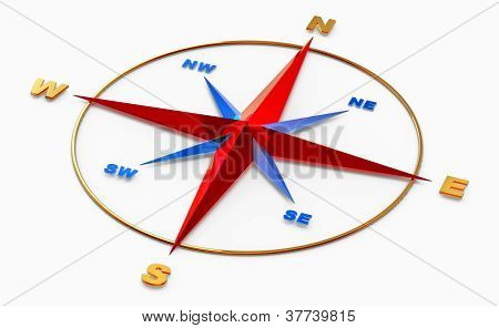 wind rose symbol for navigation