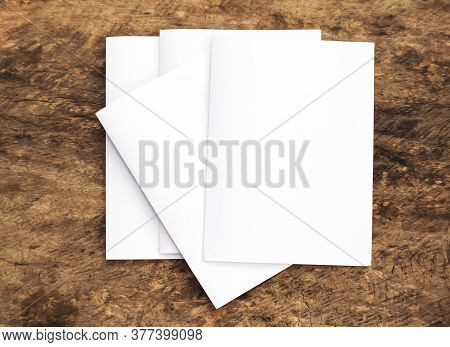 Top view of blank business cards isolated on black background. Poster mock-ups paper, white paper Bl
