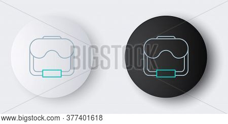 Line Diving Mask Icon Isolated On Grey Background. Extreme Sport. Diving Underwater Equipment. Color