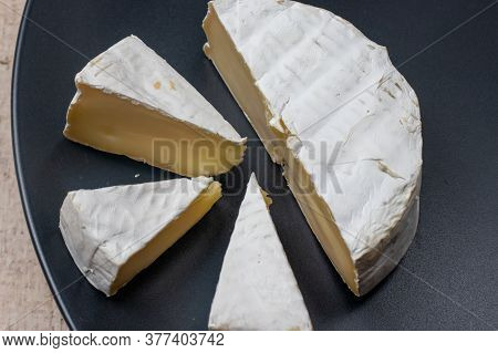 Camembert Cheese Is A Soft Elite French Cheese With A Crust Of White Mold. Made From Cows Milk.