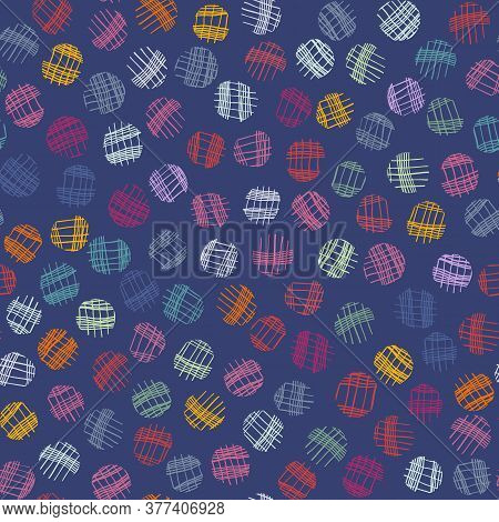 Sparse Confetti Dotty Paper Texture Seamless Background. Tiny Colored Flecked Polka Dot Sprinkles Is