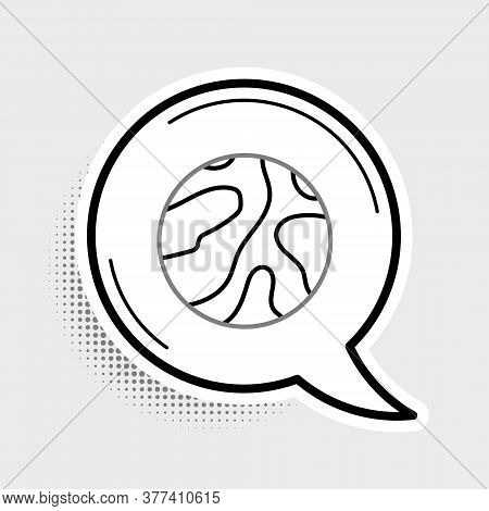 Line Falling Stars Icon Isolated On Grey Background. Meteoroid, Meteorite, Comet, Asteroid, Star Ico