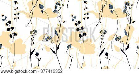Wild Plants Field In The Scandinavian Style
