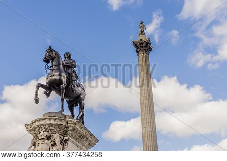 Equestrian Statue Of Charles I, Nelsons Column, London
