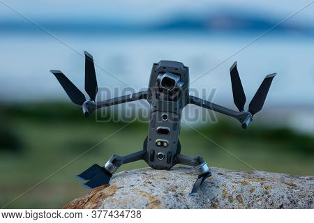 Drone Or Quadcopter With High Resolution Digital Camera Looks Like A Funny Robot