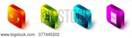 Set Isometric Oil Exchange, No Barrel For Gasoline, Oil Railway Cistern And Barrel Oil Icon. Vector