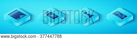 Set Isometric Plastic Bag Of Drug, Medicine Bottle And Pills, Buying Drugs Online On Phone And Hooka