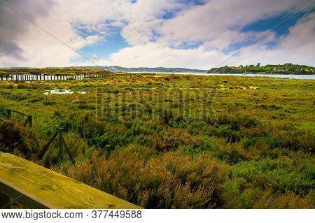 Landscape Over The Alvor Estuary In The Algarve - Portugal