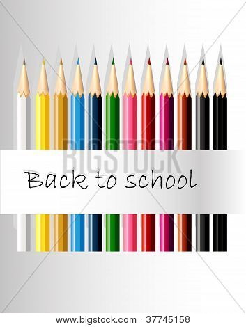 colored pencil back to school