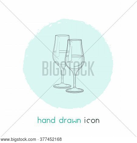 Stemware Icon Line Element. Vector Illustration Of Stemware Icon Line Isolated On Clean Background F
