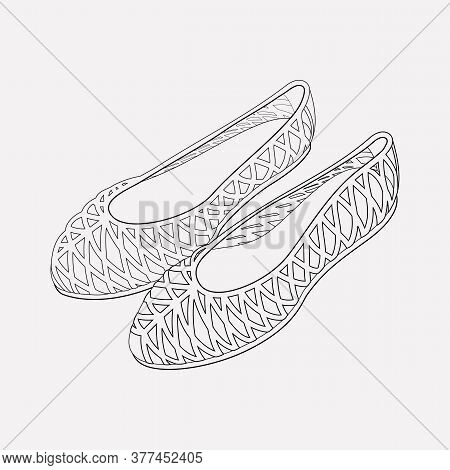 Jellies Shoes Icon Line Element. Vector Illustration Of Jellies Shoes Icon Line Isolated On Clean Ba