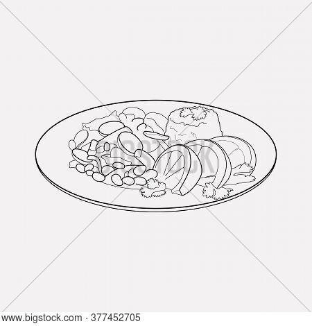 Brazilian Feijoada Icon Line Element. Vector Illustration Of Brazilian Feijoada Icon Line Isolated O