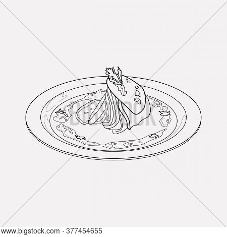 French Ratatouille Icon Line Element. Illustration Of French Ratatouille Icon Line Isolated On Clean