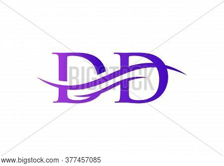 Initial Dd Logo Swoosh Design. Vector Dd Logo For Business And Company Identity