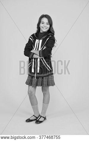International Exchange. Girl School Uniform. English Student. Education And Upbringing. Language Sch