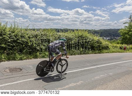Bourgoin-jallieu, France - 07, May, 2017: The German Cyclist Andreas Schillinger Of Bora-hansgrohete