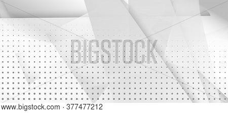 Halftone Dynamic Gray Vector Background. Edgy Art. Halftone Wallpaper. Geometric Dots Texture. Grain