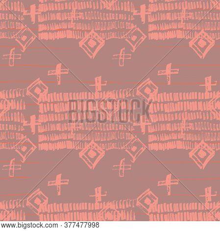 Tie Dye Japanese Geometric Shibori Seamless Pattern. Geo Wabi Sabi Watercolor Kimono Print. Scribble