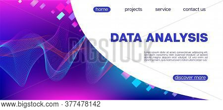 Flying Particles Distressed Purple Vector. Data Analytics Cool Banner. Big Data Neon Wallpaper. Funk