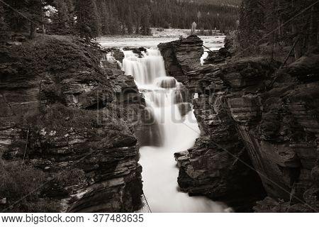 Waterfall in Jasper National Park Canada