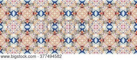 Portuguese Decorative Tiles. Batik Mosaic Print. Portuguese Decorative Tiles Background. Portuguese