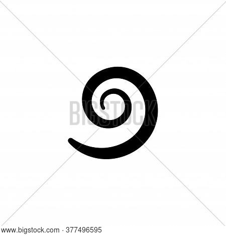 Hypnotic Spiral Swirl, Archimedean Fermat. Flat Vector Icon Illustration. Simple Black Symbol On Whi