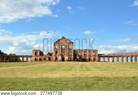 View Of The Ruins Of The Ruzhany Palace In Belarus On A Summer Day