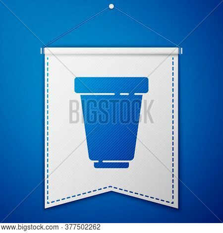 Blue Water Filter Cartridge Icon Isolated On Blue Background. White Pennant Template. Vector Illustr