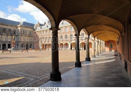 An Alignment Of Columns In The Ridderzaal (knight's Hall), Which Forms The Center Of The Binnenhof (