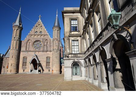 The External Facade Of The Ridderzaal (knight's Hall), Which Forms The Center Of The Binnenhof (13 C