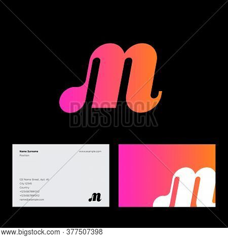 M Monogram. M Logo. Gradient M Monogram, Isolated On A Contrast Background. Logo Can Be Used For Web