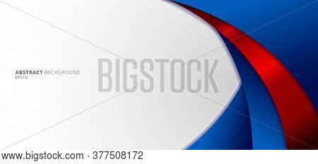 Abstract Modern Blue And Red Gradient Curved Shape On White Background. You Can Use For Banner Web D