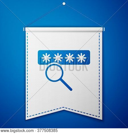 Blue Password Protection And Safety Access Icon Isolated On Blue Background. Security, Safety, Prote