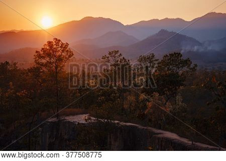 Pai Canyon Kong Lan In Mae Hong Son, Northern Thailand.