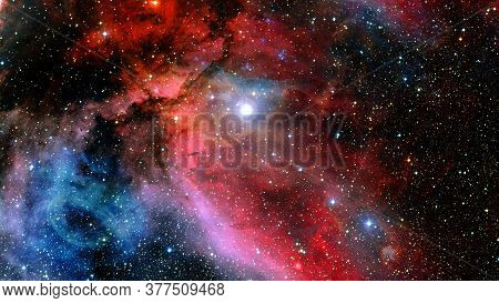 Space Galaxy Background With Nebula, Stardust And Bright Shining Stars. Elements Of This Image Furni