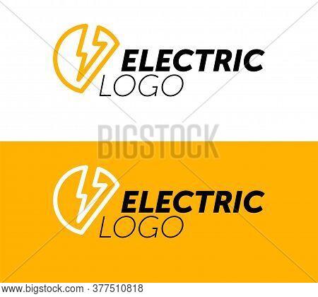 Lighting Yellow Bolt Flash Logo Design Vector Element. Fast Quick Power Rapid Icon Design Concept Sy