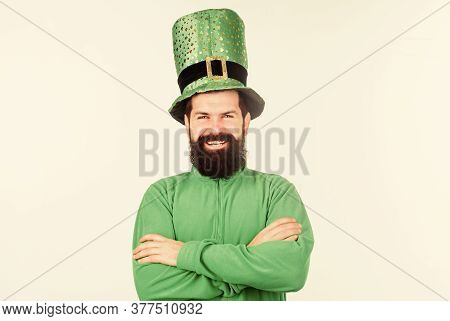 Saint Patricks Day Holiday. Green Color Part Of Celebration. Happy Patricks Day. Global Celebration