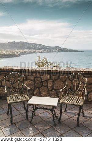 Terrace With Chairs And Table, Sorrento Peninsula, Italy