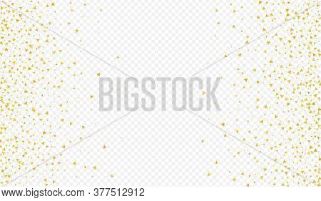 Gold Shard Transparent Transparent Background. Anniversary Sequin Pattern. Yellow Confetti Happy Ban