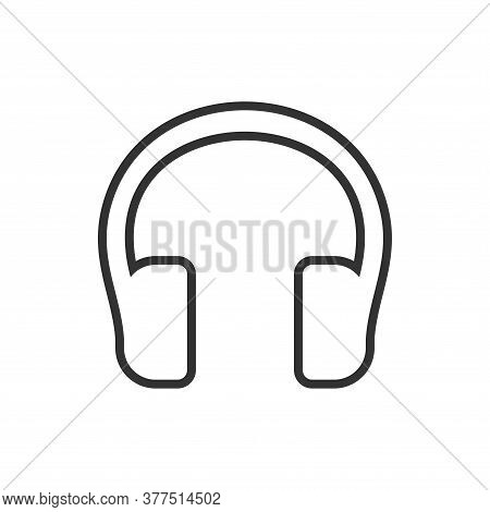 Headphone Icon Outline . Headphone Icon Outline Vector. Headphone Icon Outline Isolated On White Bac