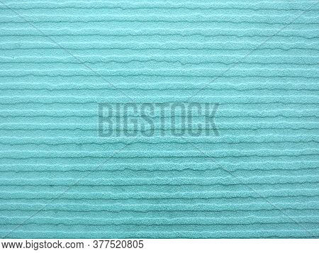 Turquoise (greenish-blue) Color Tiles Floor Design With Embossed Horizontal Lines And Rough Surface