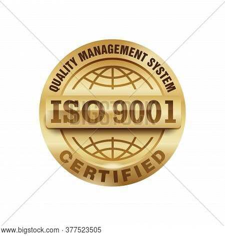 Iso 9001 Gold Stamp - Certification And Conformity To International Standards  - Golden Medal Award
