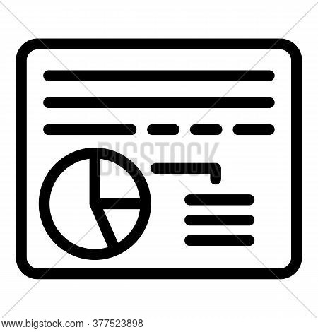 Broker Web Page Icon. Outline Broker Web Page Vector Icon For Web Design Isolated On White Backgroun