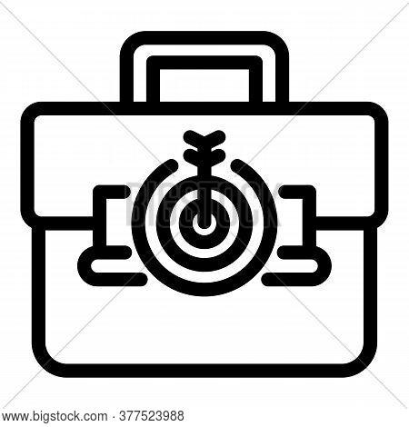 Hand Bag Broker Icon. Outline Hand Bag Broker Vector Icon For Web Design Isolated On White Backgroun
