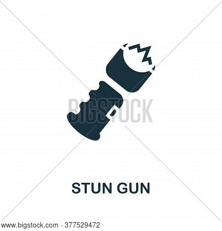 Stun Gun Icon. Simple Element From Police Collection. Creative Stun Gun Icon For Web Design, Templat