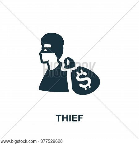Thief Icon. Simple Element From Police Collection. Creative Thief Icon For Web Design, Templates, In
